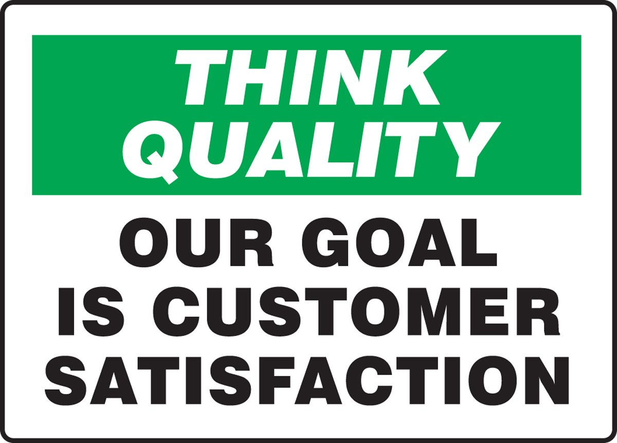 Green//Black on White 10 Length x 14 Width Accuform MQTL763VA Aluminum Sign LegendThink Quality Our Goal is Customer Satisfaction