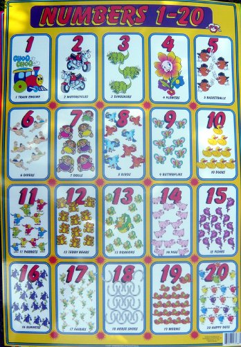 Large Wall Chart Numbers 1-20 ()