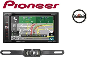 "Pioneer AVIC-5201NEX 6.2"" Navigation DVD License Plate Back Up Camera SV51301IR with a Free SOTS Air Freshener"