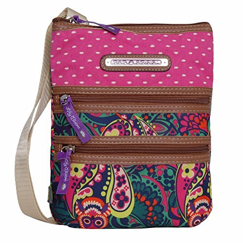 Lily Bloom OWL-ILVER TWIST Karma Bloom Nylon Mini Crossbody Shoulder Bag