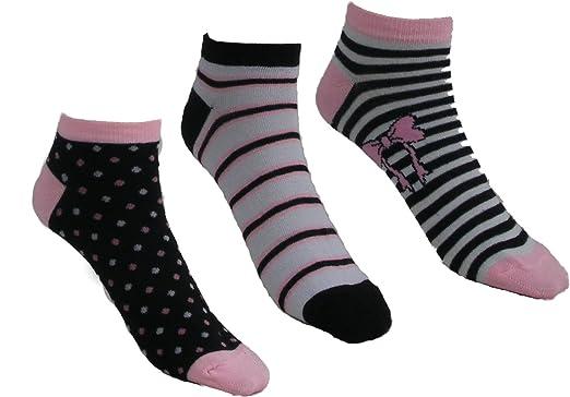 Lot 3 paire chaussette invisibles Socquette fantaisie Femme 37 à 41 (Motif 3 ) 4a5ac3b63eb