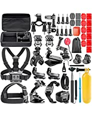 Neewer 44-in-1 Action Camera Accessory Kit, Compatible with GoPro Hero 4/5 Session, Hero 1/2/3/3+/4/5/6/7, SJ4000/5000, Nikon And Sony Sports Dv in Swimming Rowing Climbing Bike Riding Camping and More
