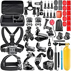 Neewer 44-in-1 Action Camera Accessory Kit, Compatible With Gopro Hero 45 Session, Hero 1233+456, Sj40005000, Nikon & Sony Sports Dv In Swimming Rowing Climbing Bike Riding Camping & More