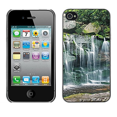 Premio Sottile Slim Cassa Custodia Case Cover Shell // F00028942 Forest creek // Apple iPhone 4 4S 4G