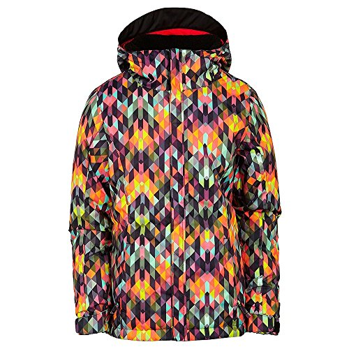 686 Girls Flora Insulated Jacket, Kaleidoscope, Medium (Ski Jacket Women 686)