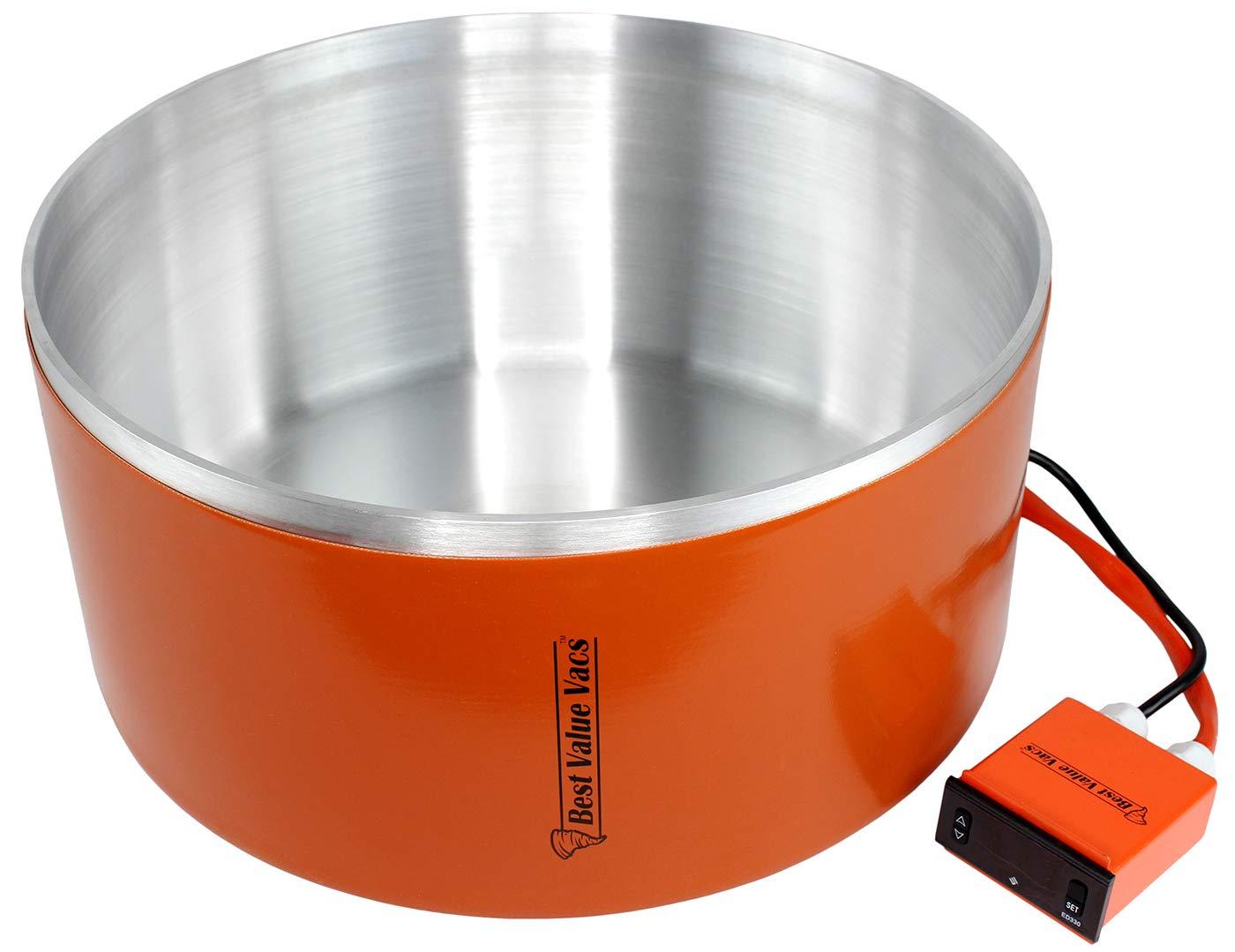 Best Value Vacs 7 Gallon Aluminum Vacuum Chamber Digital Heating Jacket