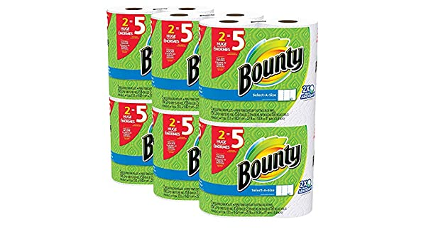 Amazon.com: Bounty Select-a-Size Paper Towels tdgeig, White, Huge Roll, 36 Count: Home & Kitchen