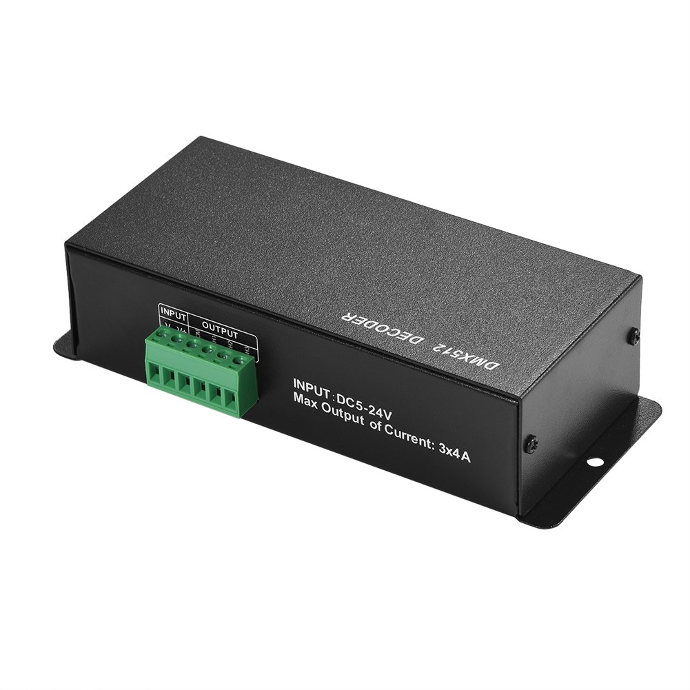 5-24 V DC RGB DMX 512 Controller for LED RGB Lamp Stage Light Fixtures DMX Controller