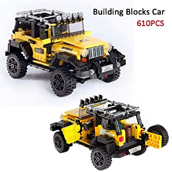 610pcs Offroad Adventure Jeep Building     - Amazon com