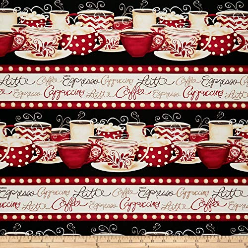 Repeating Stripe - Wilmington Prints Morning Coffee Repeating Stripe Fabric, Multicolor, Fabric By The Yard