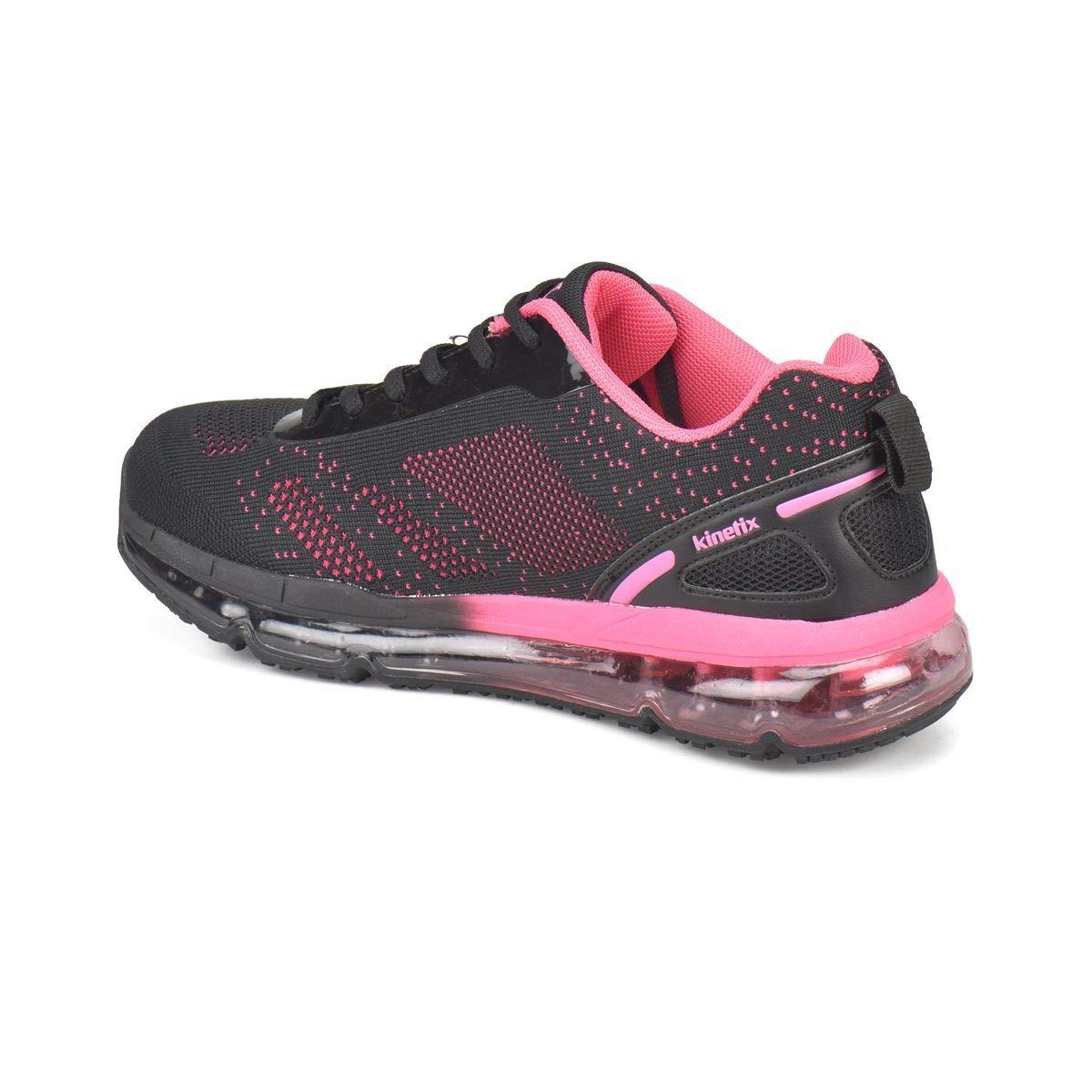 b9bda57a22dd2 Kinetix Argus Siyah Pembe Kadın Spor Ayakkabı: Amazon.com.tr