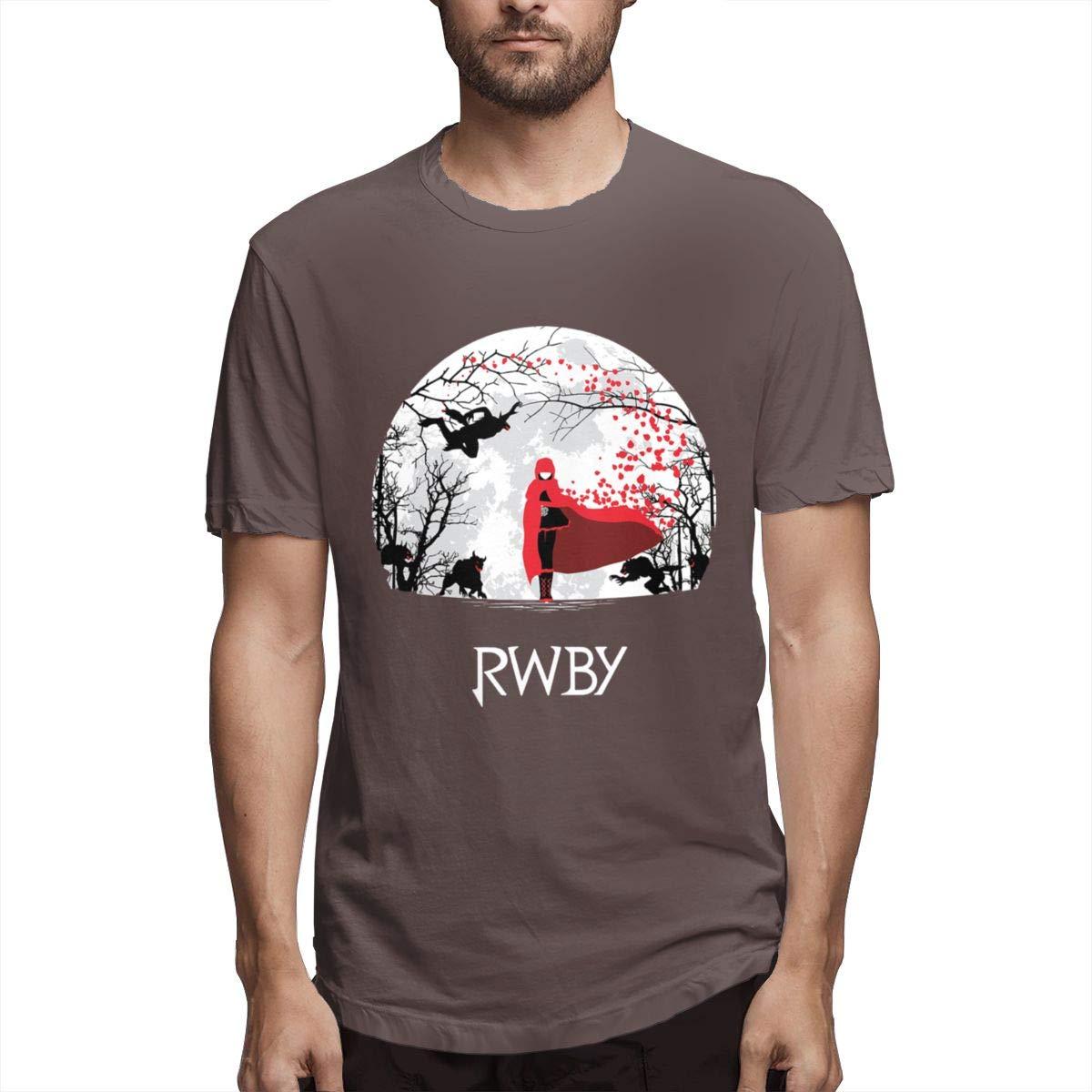 VIIHAHN Men Design RWBY Athletic Round Neck Short Sleeve T-Shirts
