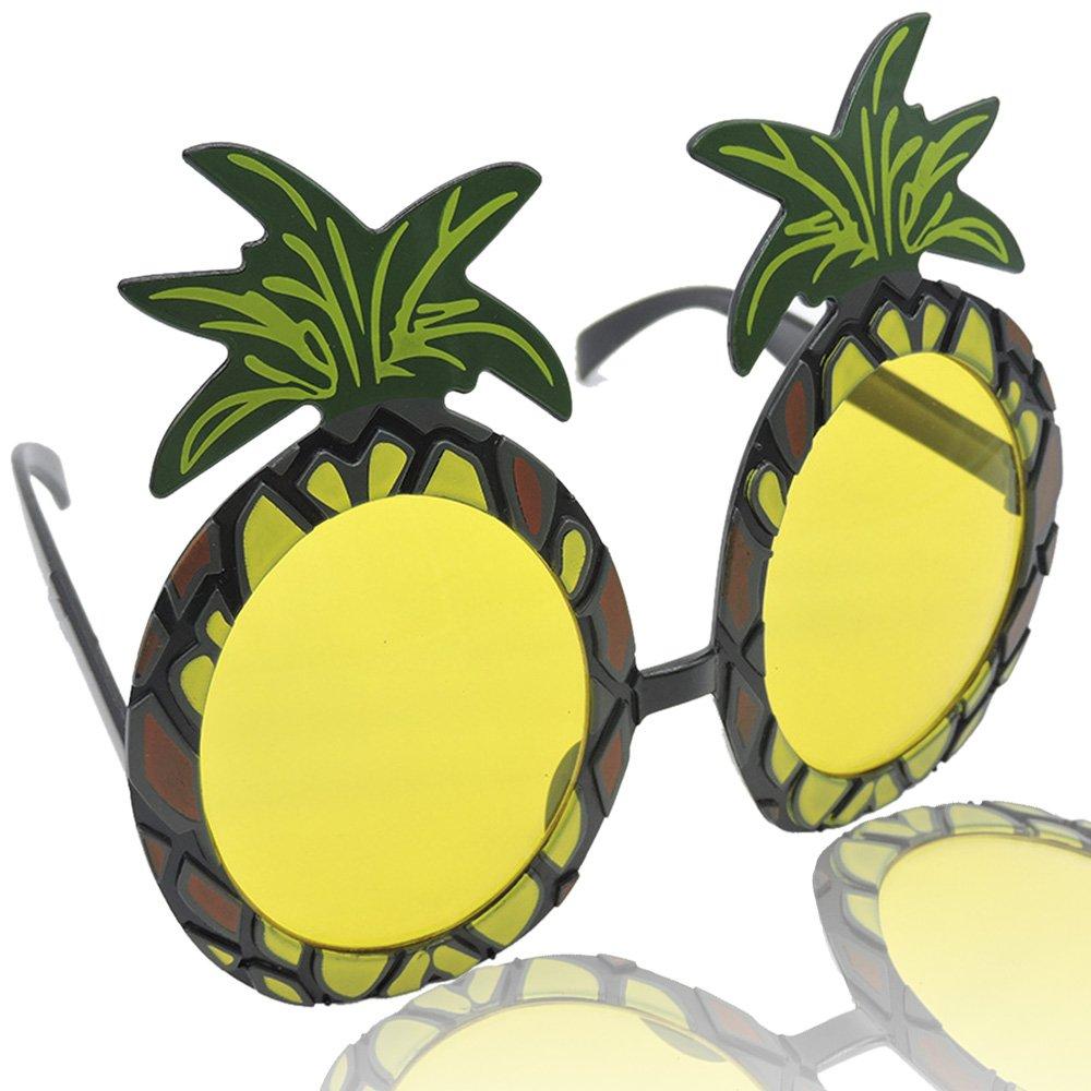 pineapple with sunglasses clipart. amazon.com: tomount pineapple sunglasses hawaiian luau beach summer party: sports \u0026 outdoors with clipart ,