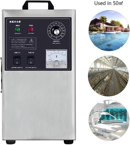 Generador de ozono portátil O3 Industrial Purificador de Aire Desodorizador Esterilizador Máquina de fabricación de ...