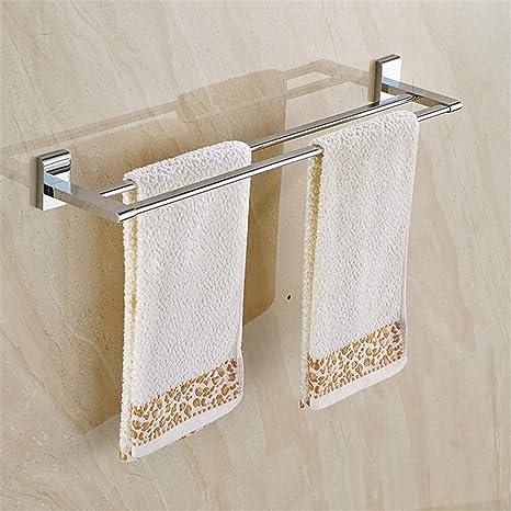 KIEYY Todo Cobre Bis plana grande toalla cuadrada barra de colgar toallas chasis paralelo pendiente del