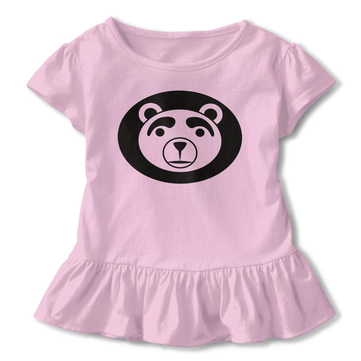 JVNSS American Black Bear Shirt Design Toddler//Infant Flounced T Shirts Outfits for 2-6T Baby Girls