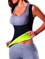 ISASSY Women's Slimming Waist Trainer Cincher Sport Yoga - Sweat Sauna Suit Shirts Hot Thermo Neoprene Body Shapers Shapewear Vest Top