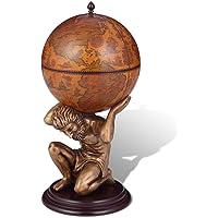 vidaXL Botellero en Forma de Atlas y Globo
