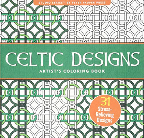 Celtic Designs Adult Coloring Book (31 stress-relieving designs) (Studio) -