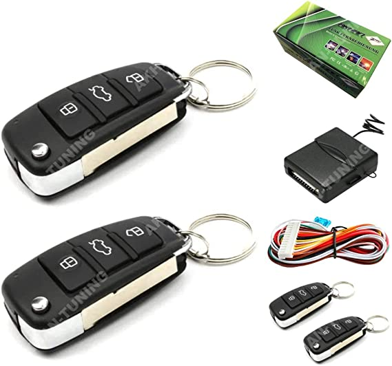 Akhan 100f68 Original Remote Control For Original Central Locking System Remote Retrofit Kit With 2 Hand Held Transmitters Auto