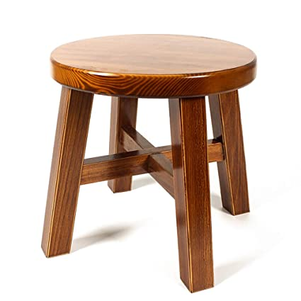 Cool Amazon Com Home Solid Wood Stool Low Small Stool Round Gmtry Best Dining Table And Chair Ideas Images Gmtryco