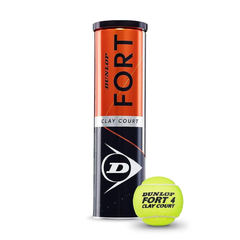 Unisexe Adulte DUNLOP Fort Clay Court balles de Tennis 4/unit/és