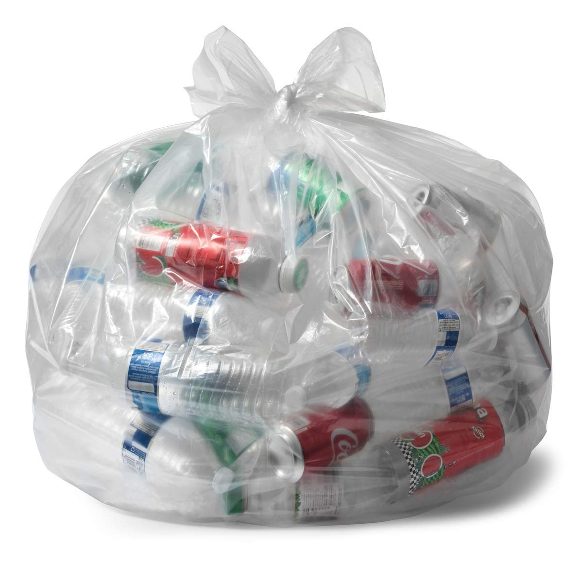 Aluf Plastics 20-30 Gallon Clear Trash Bags - (Huge 100 Pack) - 30