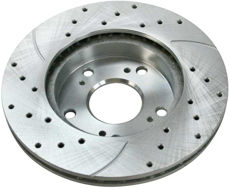Prime Choice Auto Parts SRBRPKG00124 Front Performance Silver Rotors Calipers and Performance Pads Set
