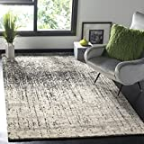 Cheap Safavieh Retro Collection RET2770-9079 Modern Abstract Black and Light Grey Area Rug (5′ x 8′)