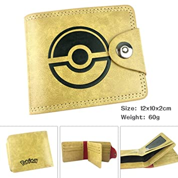 SWVV Anime Billetera Pokemon Pokemon Pokemon Pibikachu Hombres Short Buckle Wallet Wallet A: Amazon.es: Equipaje