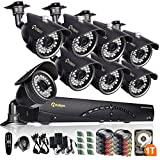 The Anlapus 8 camera full HD High Resolution 1280x720 security camera system, the best choice for your home or business! Premium quality at an affordable price! One year warranty and lifetime technical support which allows you to use it witho...