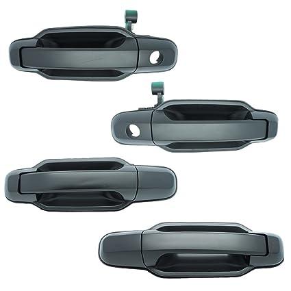 Rear Right Primed Black Left Front Outside Door Handles Set