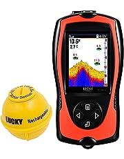 Lucky Portable Fish Finder Sonar Capteur 45m Sondeur Profondeur De l'eau LCD Écran Écho Sondeur Fishfinder avec Poissons Attrayant Lampe pour La Pêche De Glace