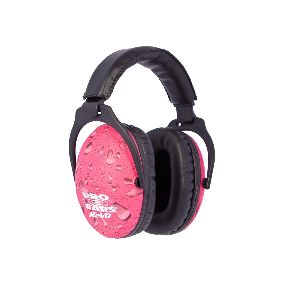 Pro Ears - ReVO - Hearing Protection - NRR 25 - Youth and Women Ear Muffs - Pink Rain