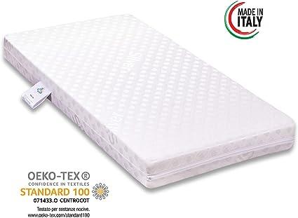 miasuite i sogni italiani Materasso per Culla in WATERFOAM 60X130 Alto 12 CM Poliuretano ESPANSO Ortopedico