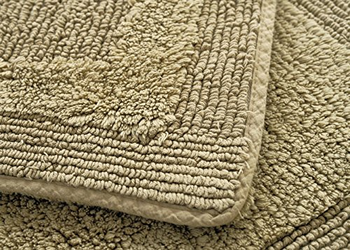 USIX Indoor Machine Washable Hotel-Spa Tub-Shower Bath Towel Mat Thick Cotton Chenille Shag Area Rug Living Room Carpet Bedroom Rug Floor Mat Dining Room Carpets Green 45cm x 70cm by USIX (Image #3)