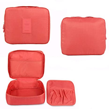 DALUCI Makeup bag Cosmetic bag beauty Case Make Up Organizer Toiletry bag kits Storage Travel Wash pouch  Pink  Bags   Cases