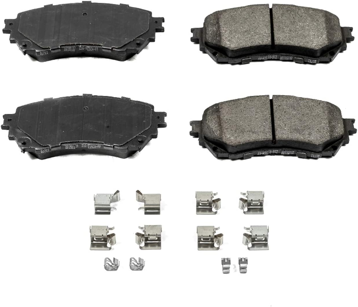 Z17 Front Ceramic Brake Pads with Hardware Power Stop 17-696