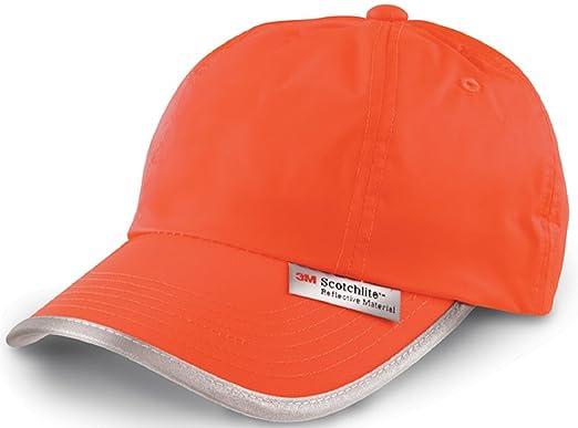 ffc5467b795 Hi Vis High Viz 3M Dayglo Low Profile Baseball Cap Hat (Orange ...