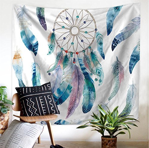 (Ameyahud DreamCatcher Tapestry Wall Hanging Dream Catcher Wall Tapestry Hippie Tapestry Colorful Tapestry Psychedelic Bohemian Feather Wall Tapestry for Bedroom Decor)