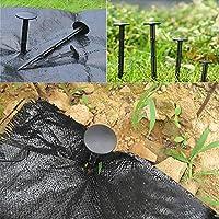Speede 50 Piezas Anclaje de Suelo para Anclaje de Suelo para jardín, Cubierta de Forro Polar, Control de Malas Hierbas, Red de Insectos, Cubierta de Suelo (11 cm): Amazon.es: Jardín