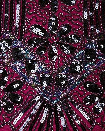 de cóctel cuello columna poliéster en V lentejuelas s fiesta de con AIURBAG Vaina vestido asimétrico AqFSxnZB