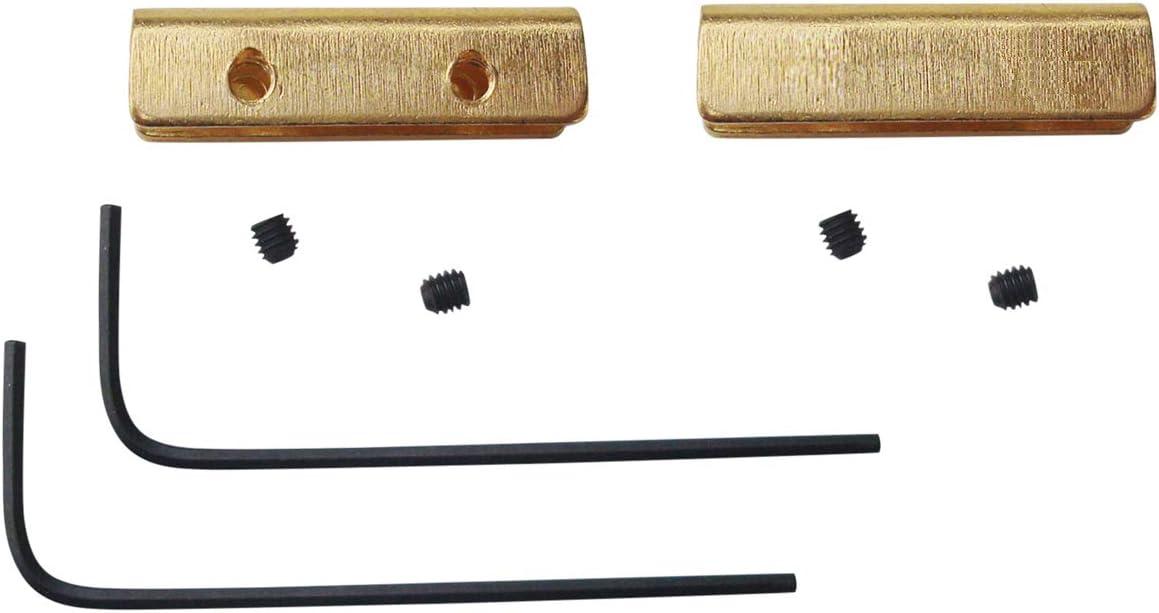 2.5 cm Brass plegamiento cuchillos de caza,Pack de 2 sets Pulgar pulgar Stud Bar