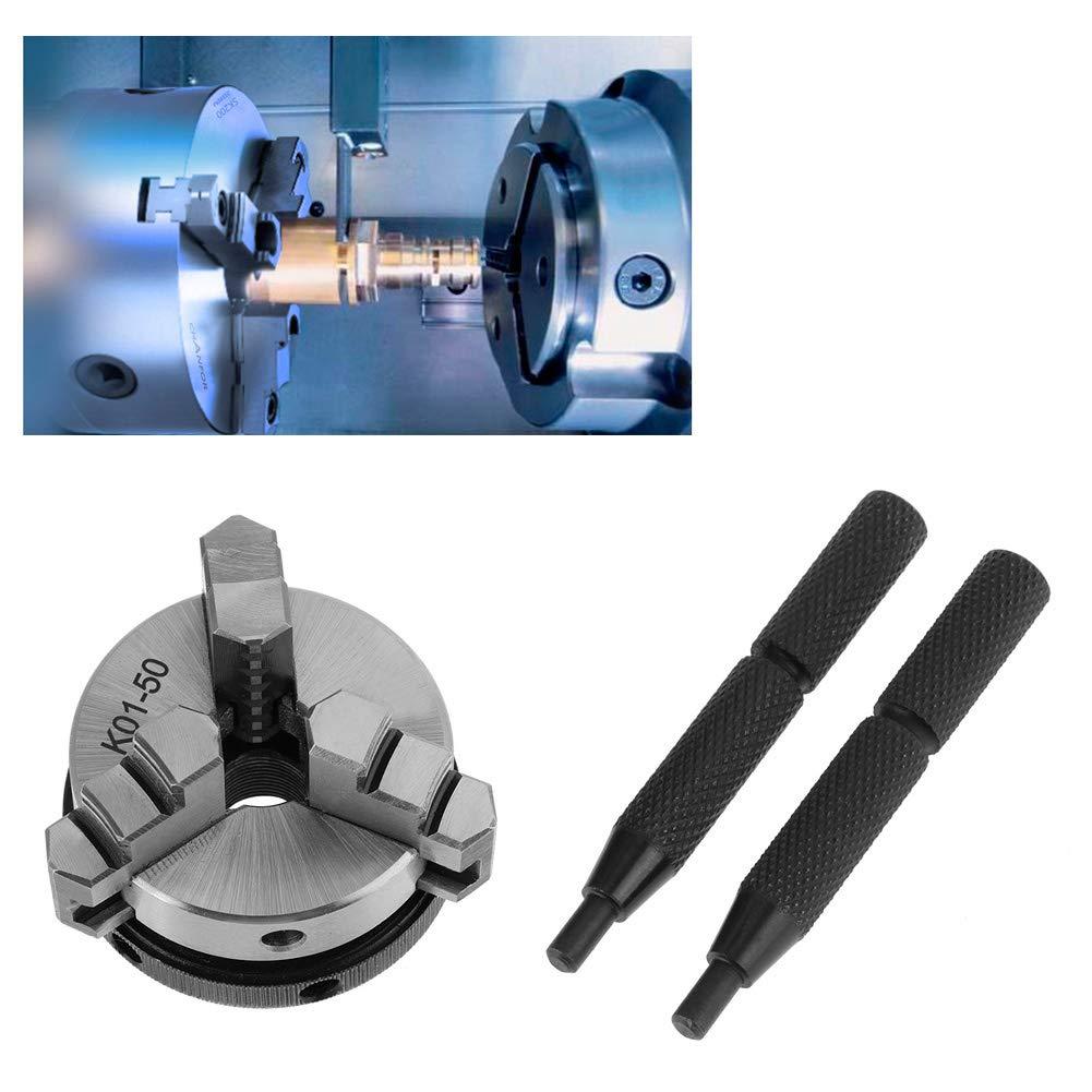 Mandrin de tour /à 3 mors /à centrage automatique filetage de montage de 50 mm pour m/étaux non m/étalliques