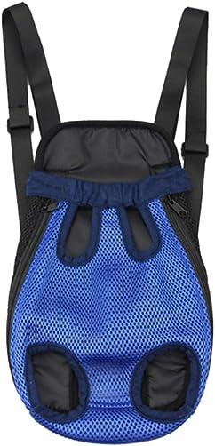 UEETEK Pet Carrier Backpack Adjustable Pet Front Cat Dog Carrier Travel Bag Hands-Free Legs Out Blue