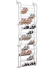 36 Pair Over Door Hanging Shoe Rack Shelf Organiser Hook Holder Storage Stand Shopmonk by zizzi