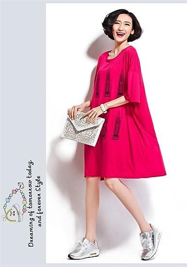 Aliyun verano Oversize vestidos Casual algodón Imprimir Loose Camiseta para embarazadas rojo rosso: Amazon.es: Ropa y accesorios