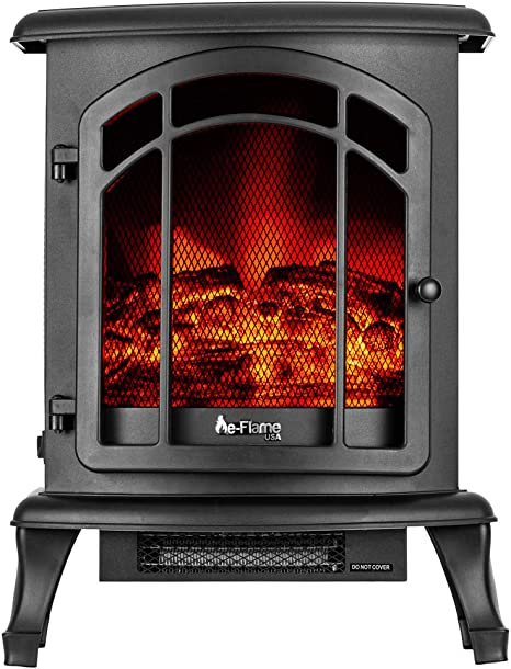 E Flame Usa Tahoe Led Portable Freestanding Electric Fireplace Stove 3 D Log And Fire Effect Black Kitchen Dining