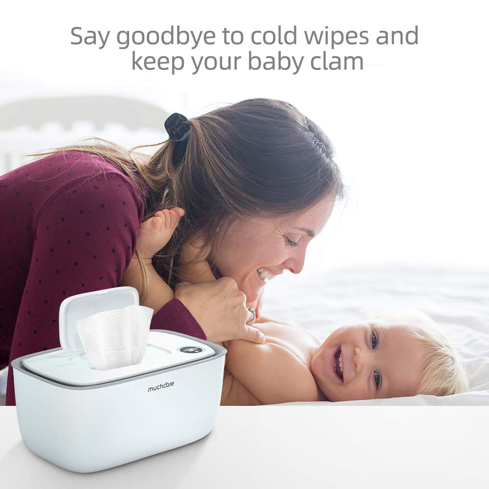 Wipe Warmer Wipes Dispenser Muchcare Wipes Container with Soft Nightlight Makes Your Baby Feel Comfortable and Relaxed Through Every Diaper Change