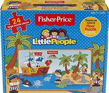 Fisher Price Little People Floor Puzzle Treasure Island 24 Grandes Pièces De Puzzle